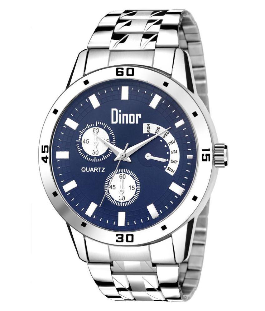 Dinor 1018 Blue Stainless Steel Analog Men #039;s Watch