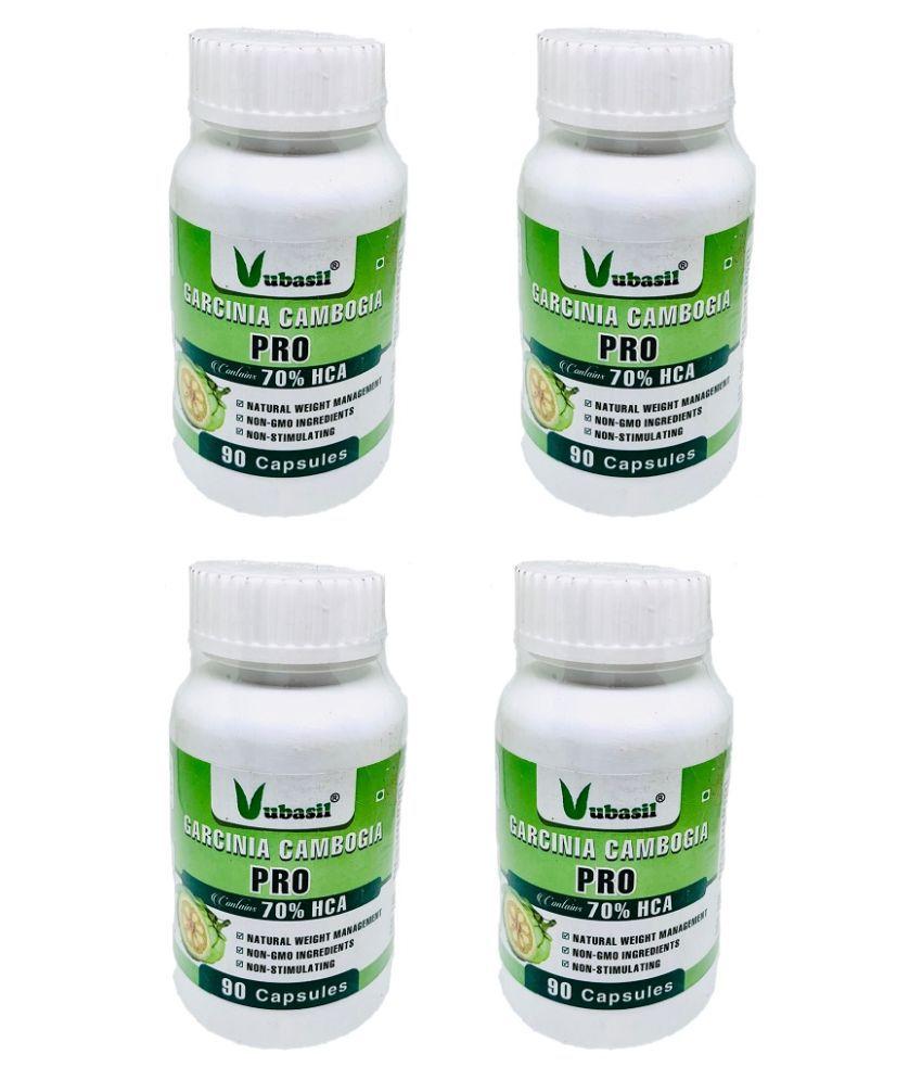 VUBASIL Herbal Garcinia Cambogia Fat Weight Loss Capsule 360 no.s Pack Of 4