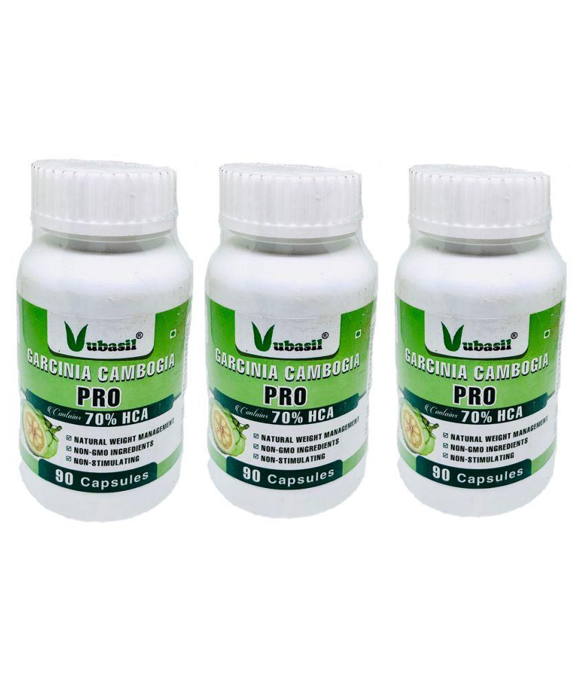 VUBASIL Herbal Garcinia Cambogia Fat Weight Loss Capsule 270 no.s Pack of 3