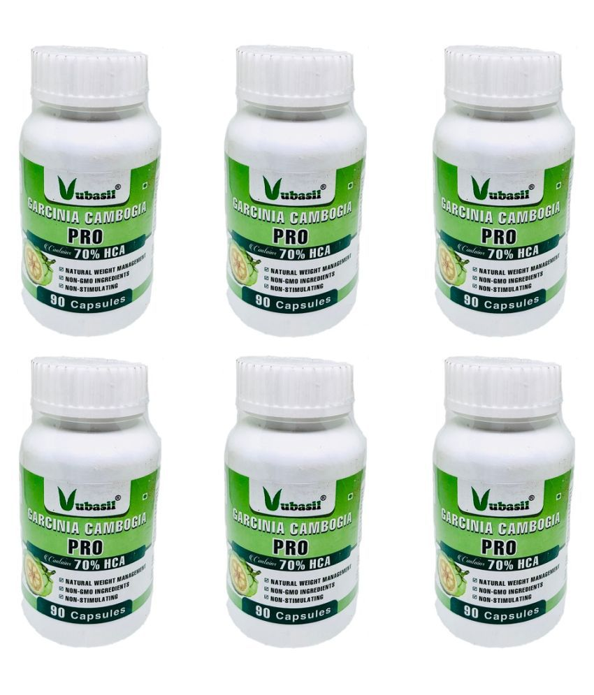 VUBASIL Herbal Garcinia Cambogia Fat Weight Loss Capsule 540 no.s Pack Of 6