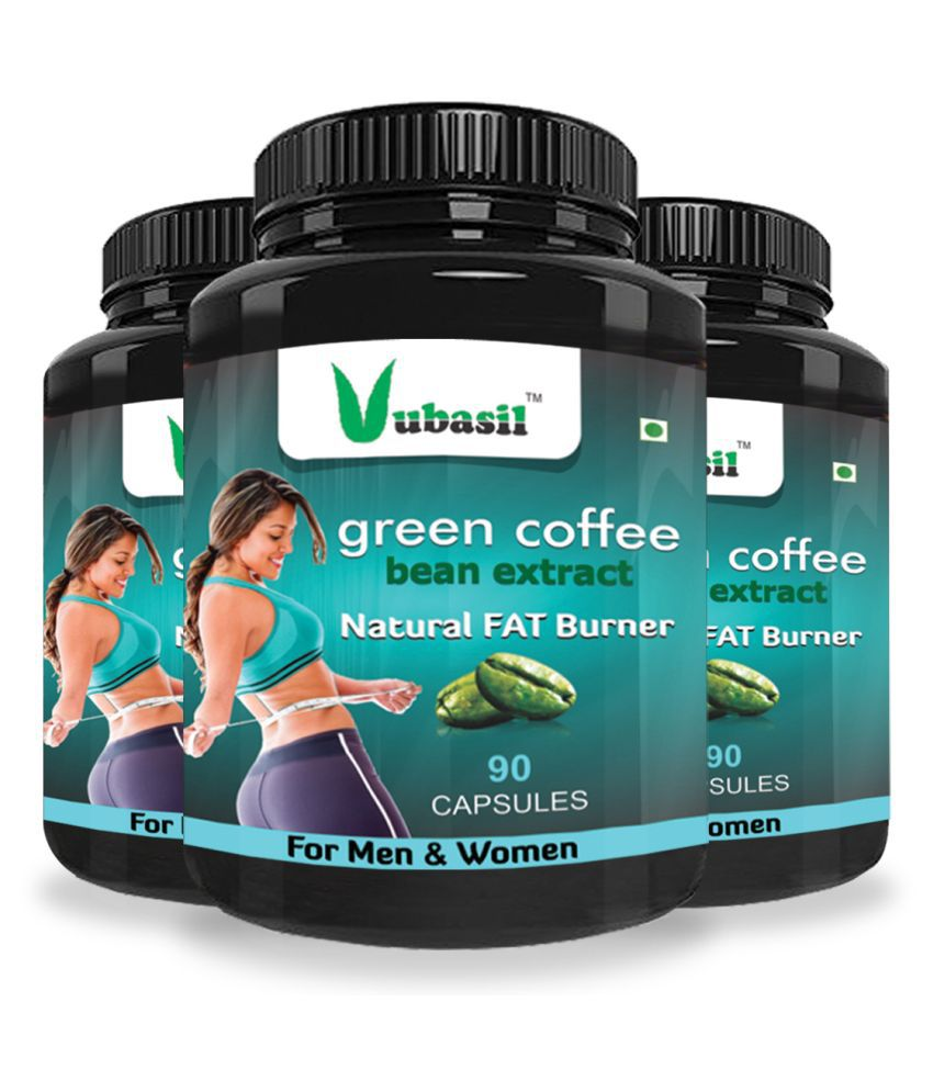 VUBASIL Herbal Green Coffee Extract Fat Burner Capsule 270 no.s Pack of 3