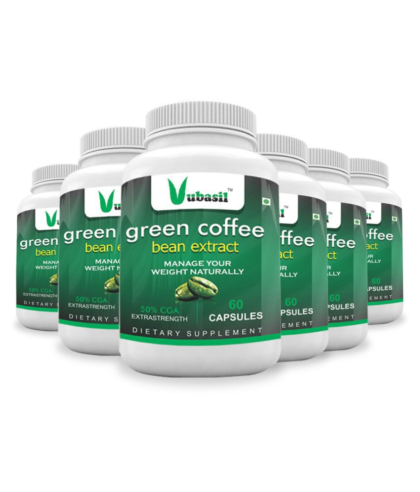 VUBASIL Herbal Green Coffee Extract Weight Loss Capsule 360 no.s Pack Of 6