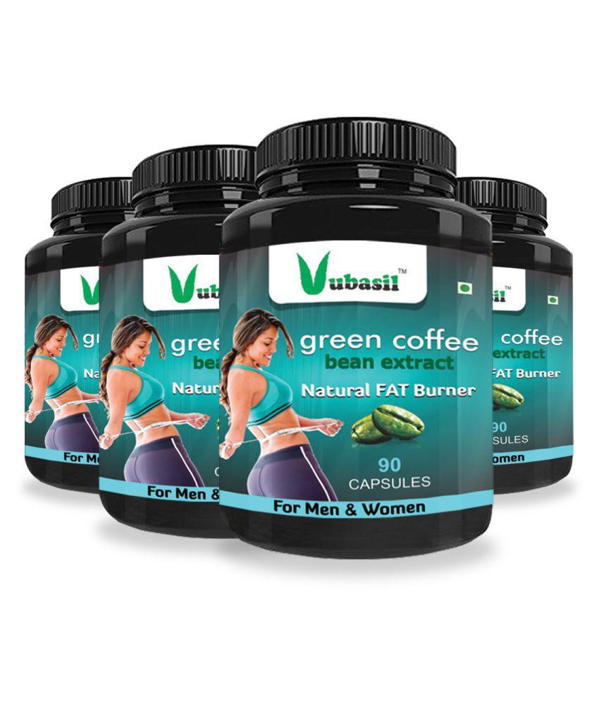 VUBASIL Herbal Green Coffee Extract Fat Burner Capsule 360 no.s Pack Of 4