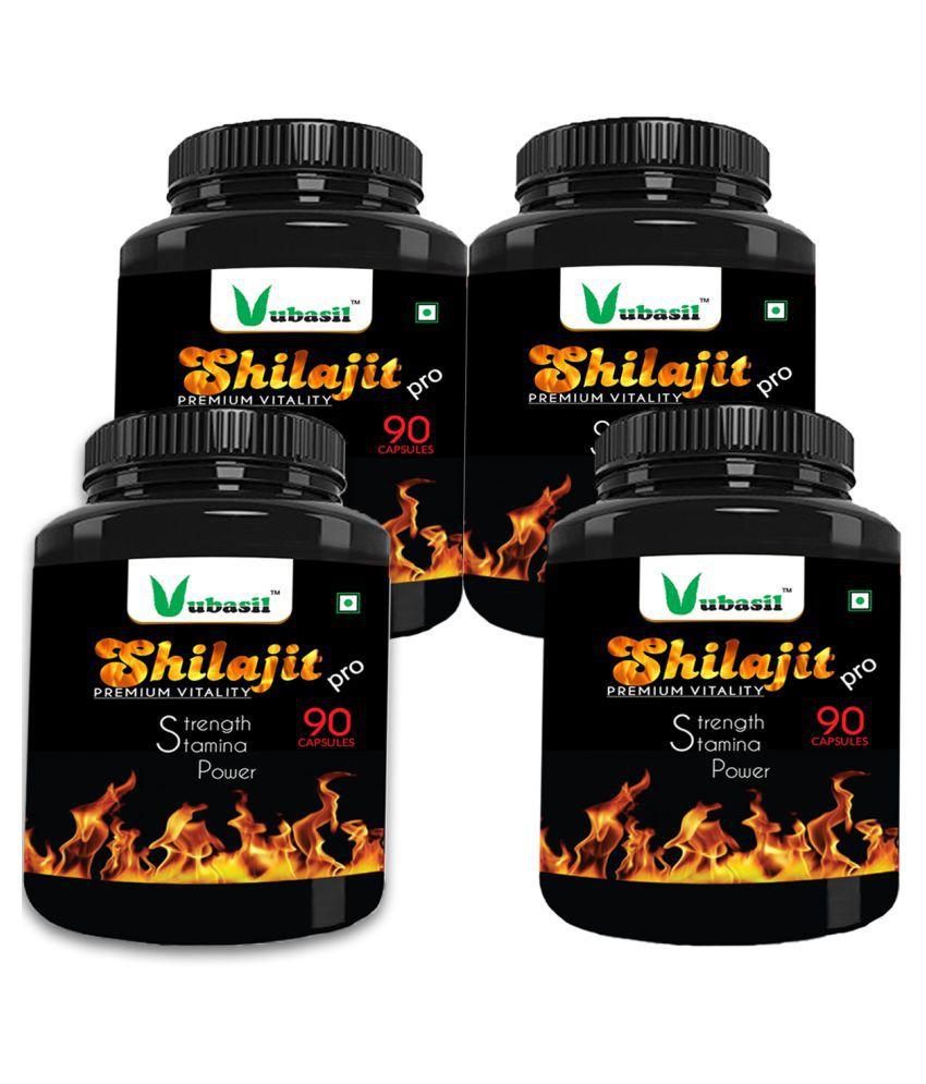 VUBASIL Pure Shilajit - Herbal Shilajeet Extract Capsule 360 no.s Pack Of 4