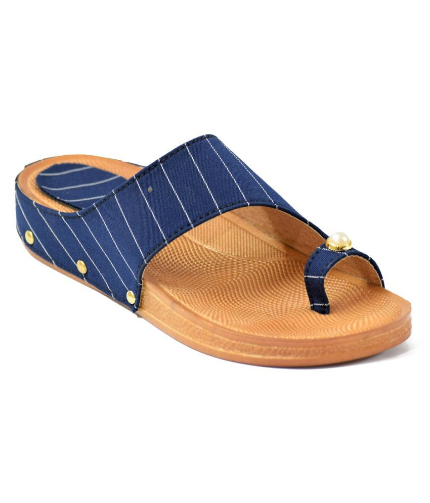 Shoe Cloud Navy Slippers