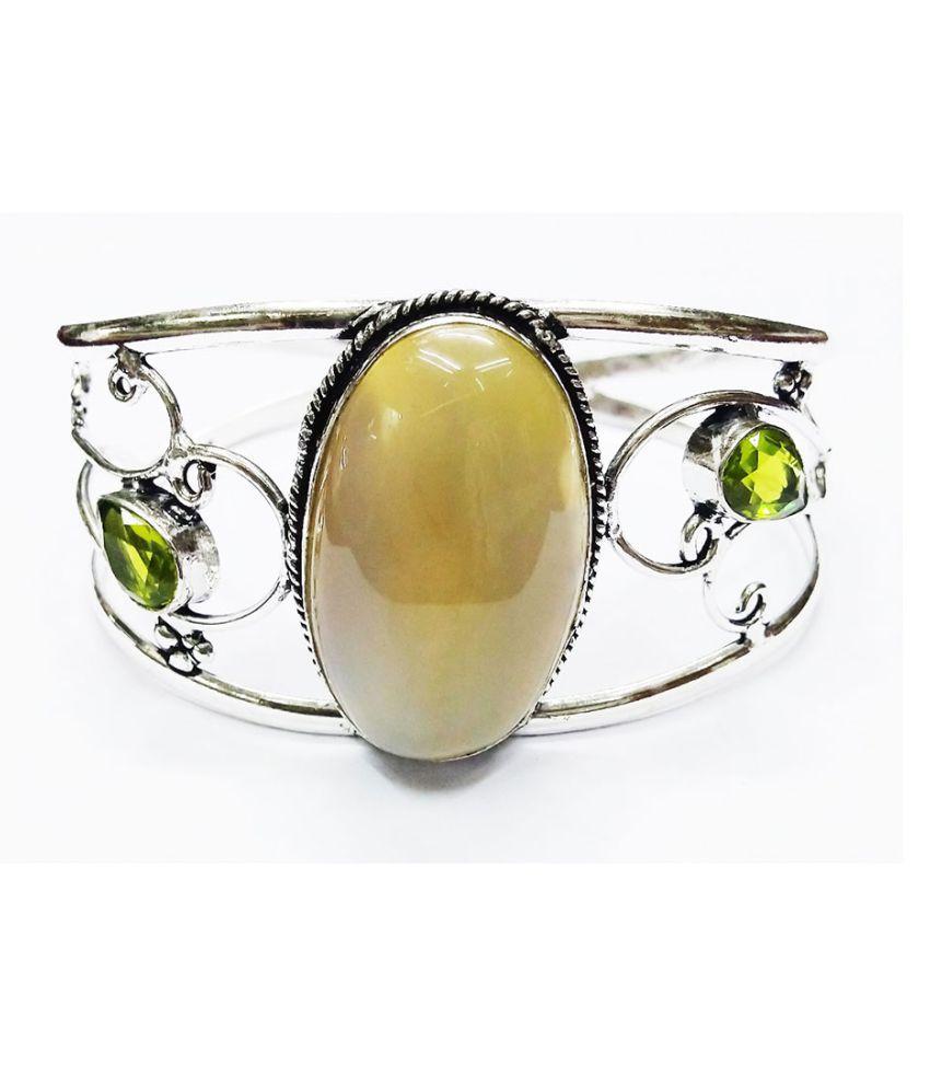 Vinayak Antique gems Stone Bangle (Flexible)