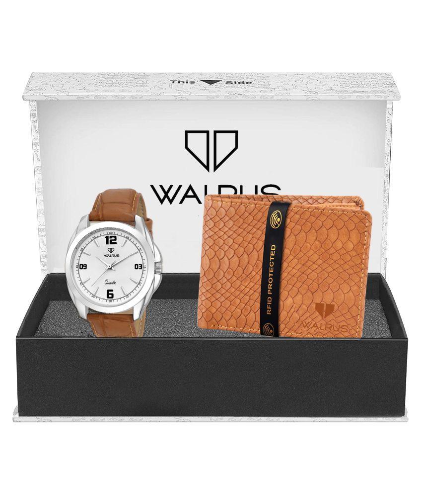 Walrus WWWC COMBO14 Leather Analog Men #039;s Watch