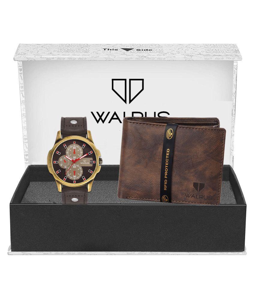 Walrus WWWC COMBO38 Leather Analog Men #039;s Watch