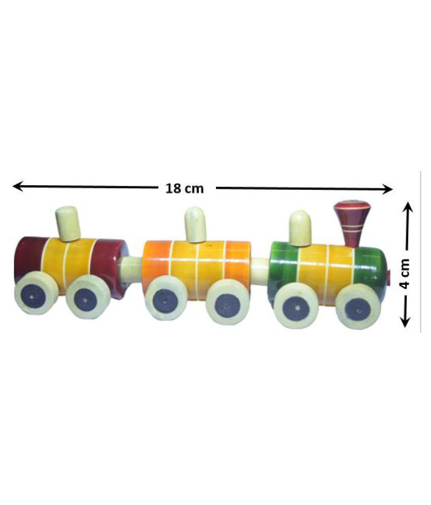 Handcrafted Wooden pull along train toy - Channapatna Toys - Showpiece