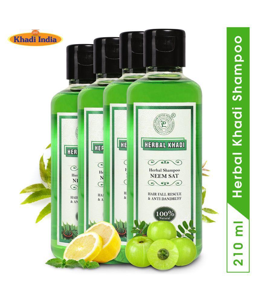 Herbal Khadi Neemsat Anti Dandruff Hairfall Control Shampoo 840 mL Pack of 4