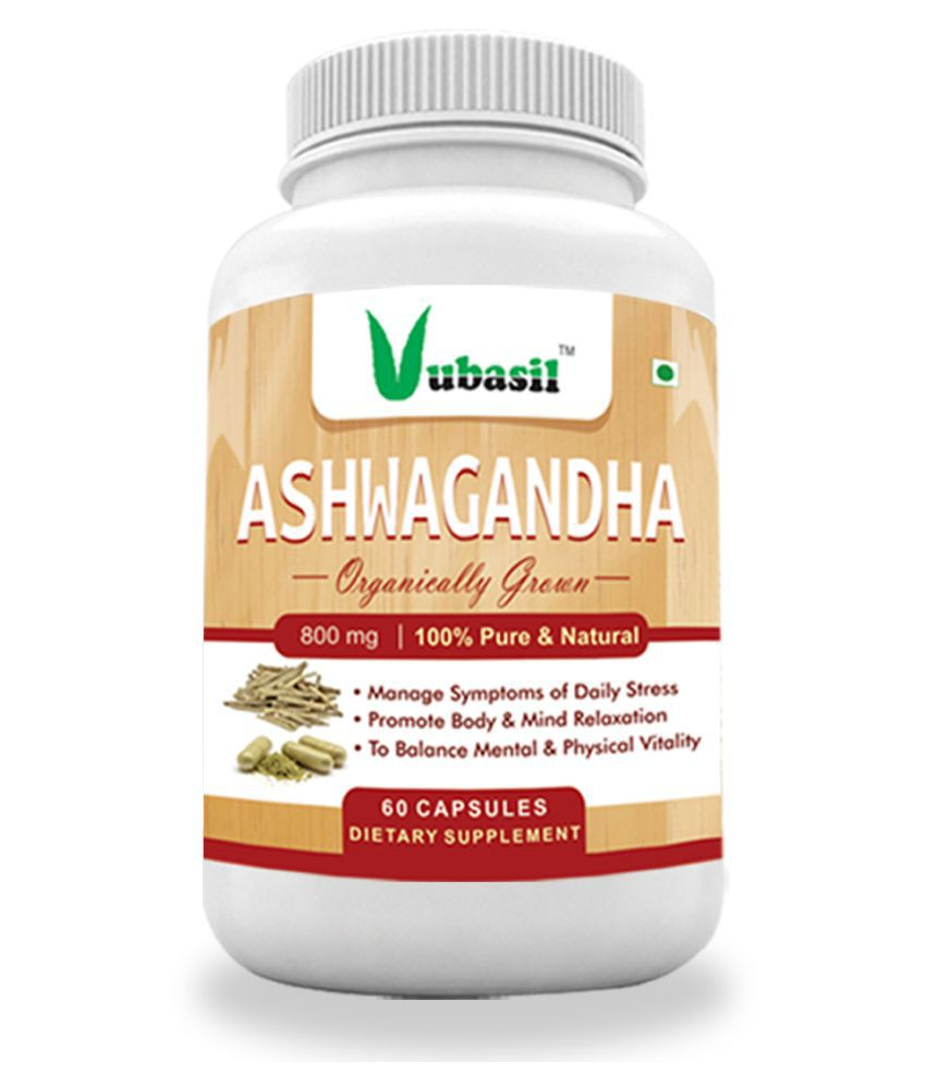 VUBASIL Herbal Ashwagandha for General Wellness Capsule 60 no.s Pack Of 1