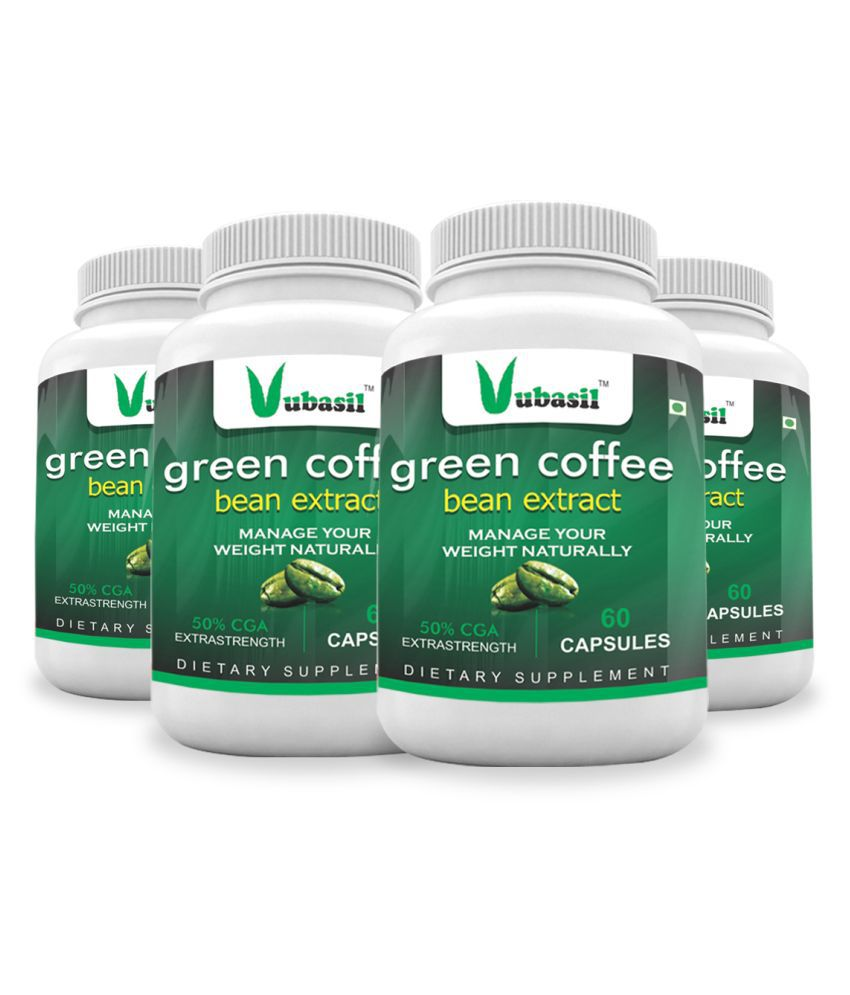VUBASIL Herbal Green Coffee Extract Weight Loss Capsule 240 no.s Pack Of 4
