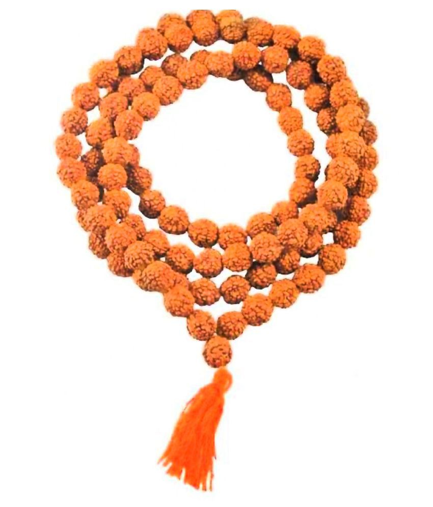 HUNDRED PERCENT ORIGINAL NEPALI FIVE MUKHI RUDRAKSHA MALA 108+1 BEED JAAP MALA CERTIFIED