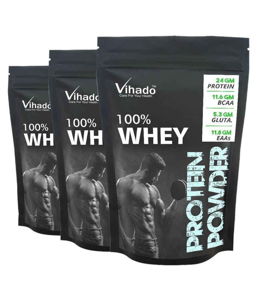 Vihado Nutrition Whey Protein Concentrate 80% 50 gm Pack of 3