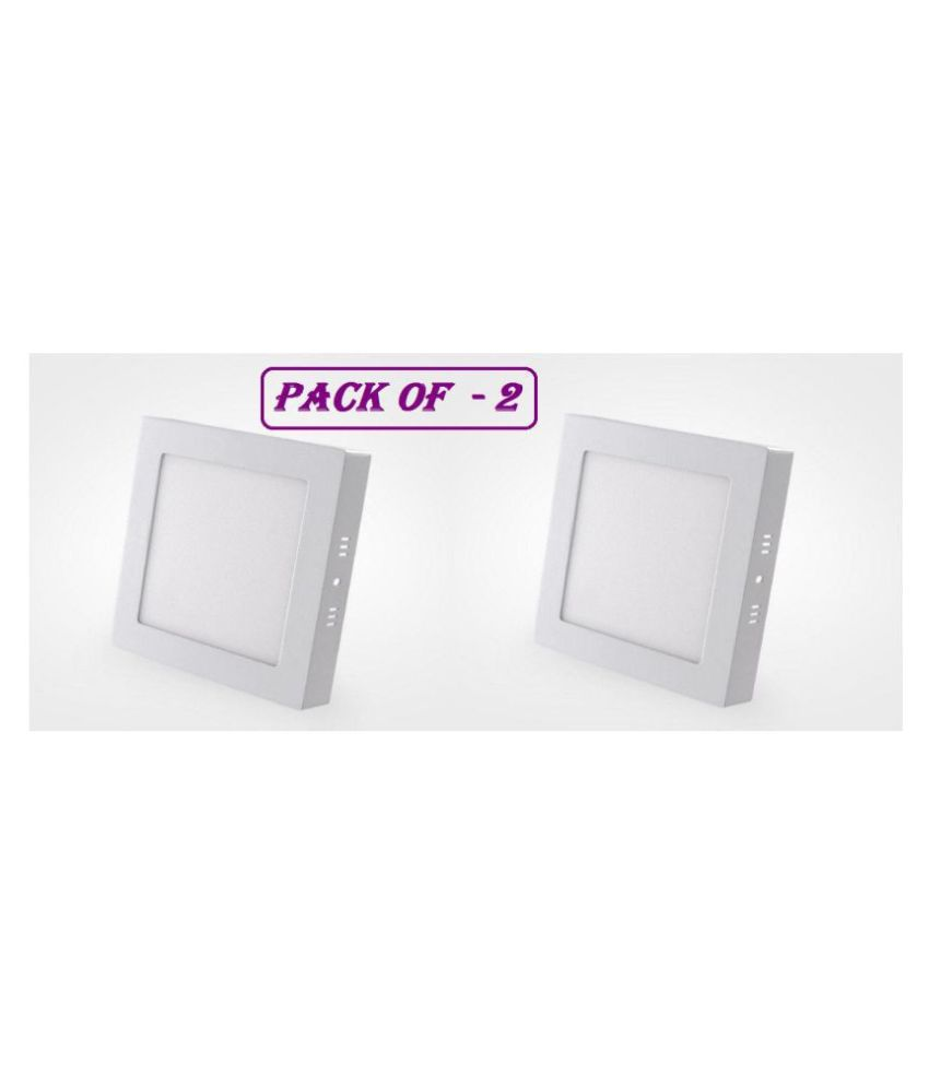 D'Mak Surface 15W Square Ceiling Light 16.2 cms. - Pack of 2