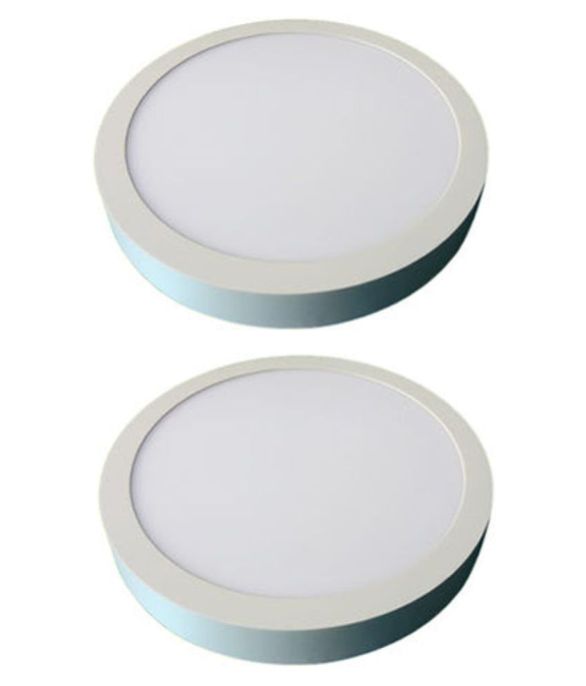D'Mak Surface 18W Round Ceiling Light 21 cms. - Pack of 2