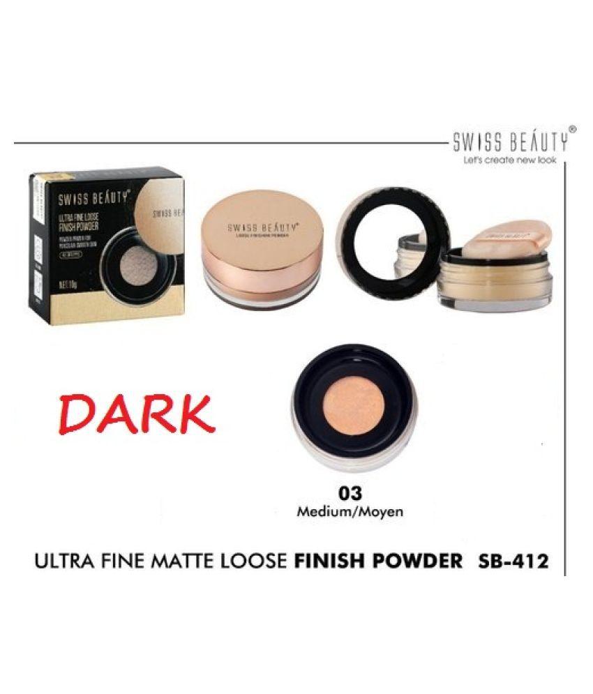 SWISS BEAuty Real Loose Powder 10gm Loose Powder Dark 10 g