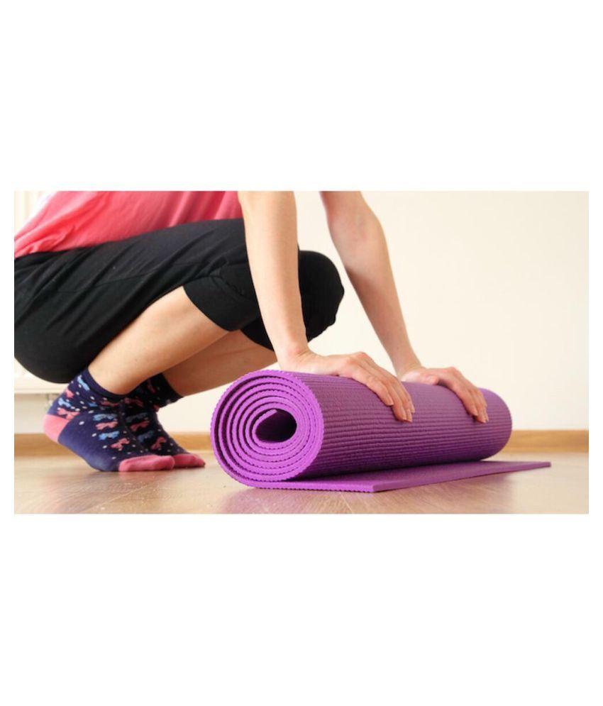Bluebird  fashion Yoga Mats For Gym & Exercise (Dark Pink)