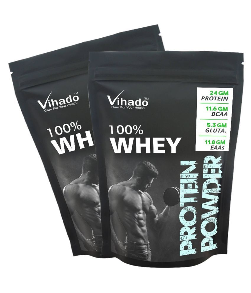 Vihado Nutrition Whey Protein Concentrate 80% Unflavoured 100 gm Pack of 2