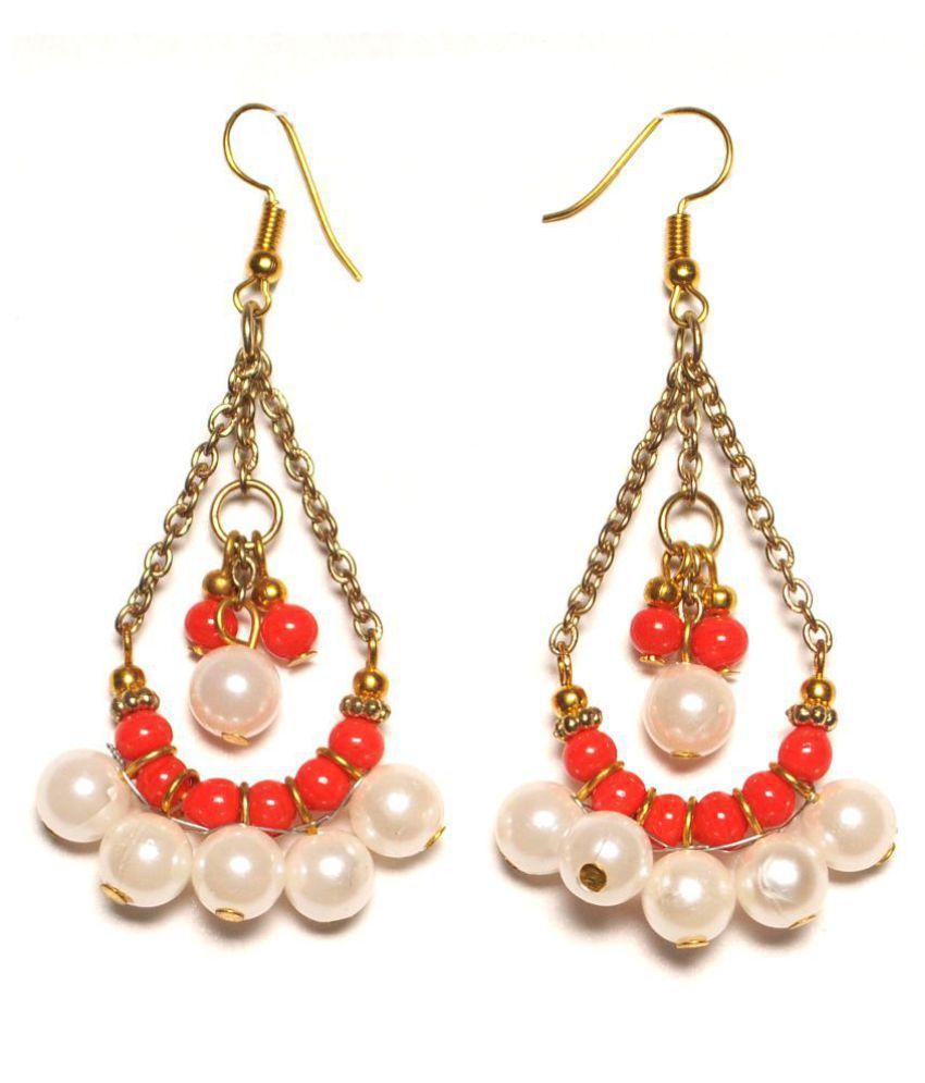 Zurii white pearl & seed bead earrings