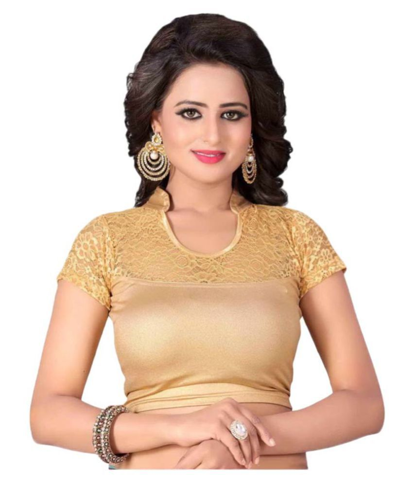 Bulbul Gold Shimmer Readymade without Pad Blouse