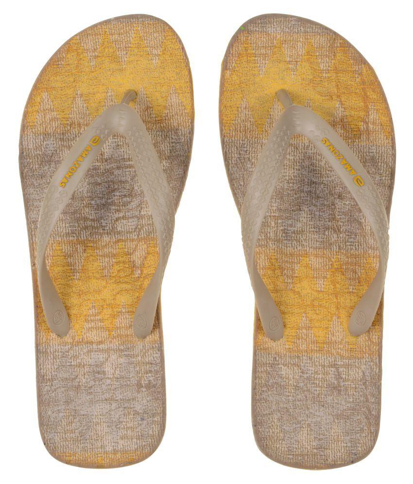 AMAZONAS Yellow Thong Flip Flop
