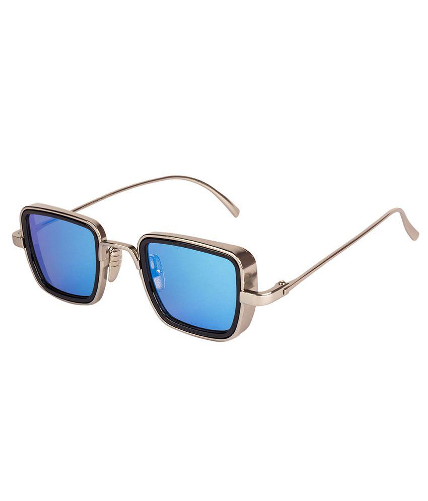Arizona Sunglasses - Kabir Singh Blue Plastic (Polycarbonate) lens Square Metal Frame for Men and women