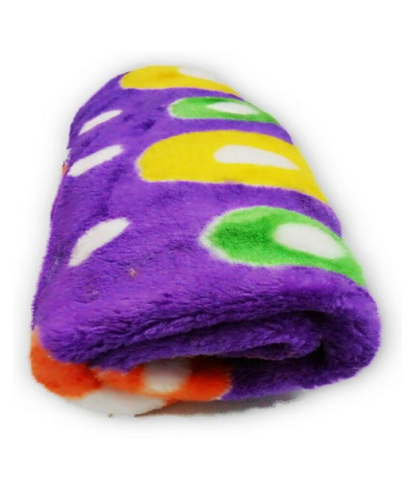 SAA Fashion Purple Fleece Baby Wrap cum blanket ( 105 cm × 85 cm - 1 pcs)