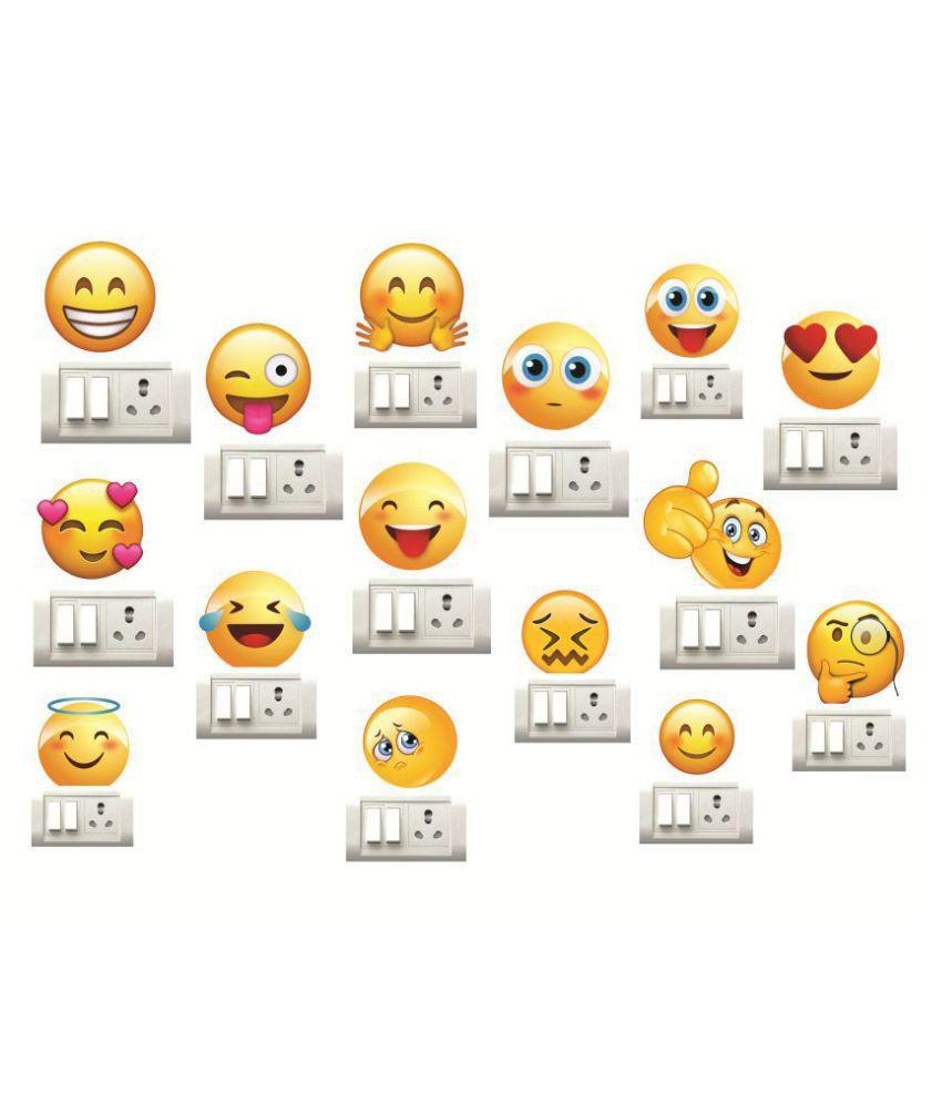 Decor Villa smiley Funny Sticker ( 30 x 30 cms )