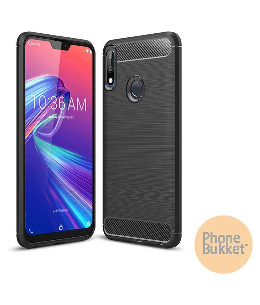 PhoneBukket Carbon Fibre Black Back Case for Asus Zenfone Max Pro M2