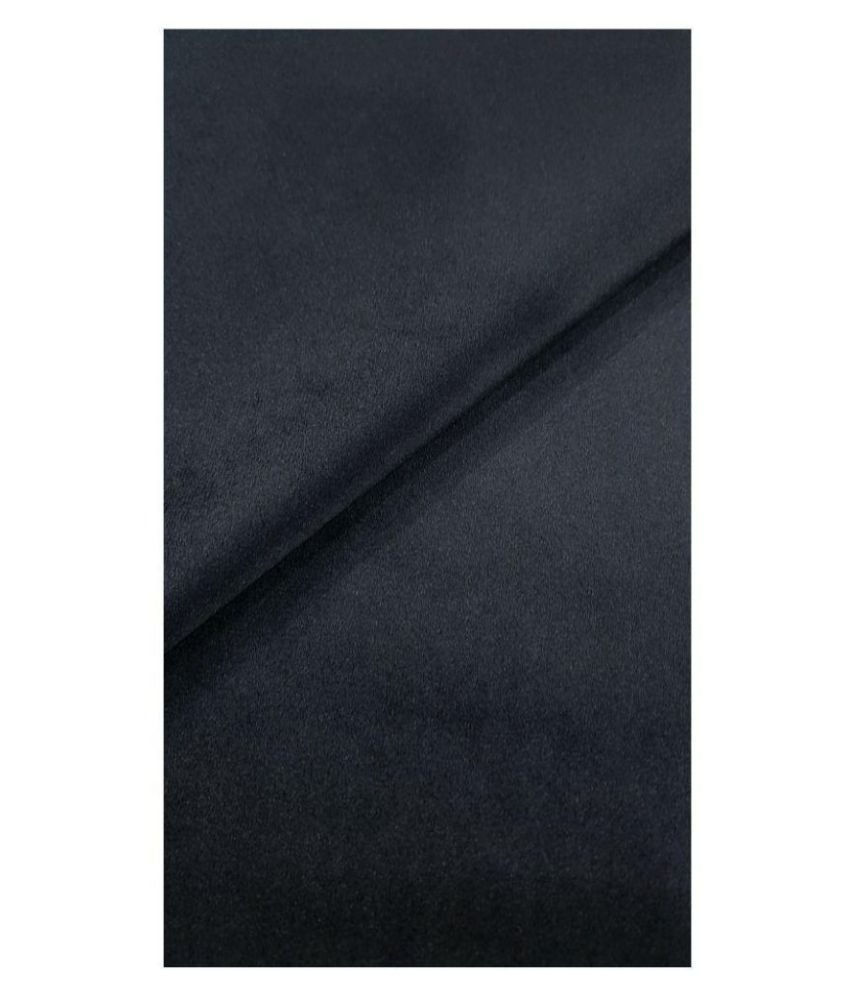 Siyaram Black Poly Blend Unstitched Blazer Piece