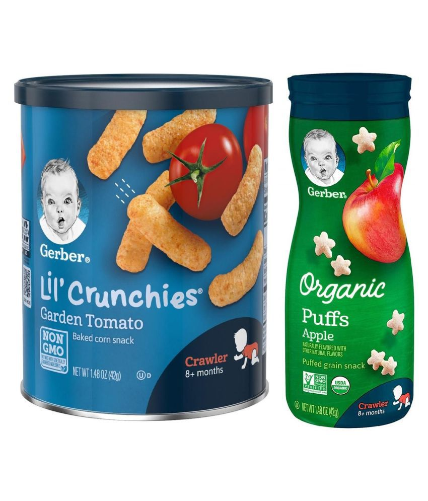Gerber Garden Tomato Snack Foods for 12 Months + ( 84 gm ) Pack of 2