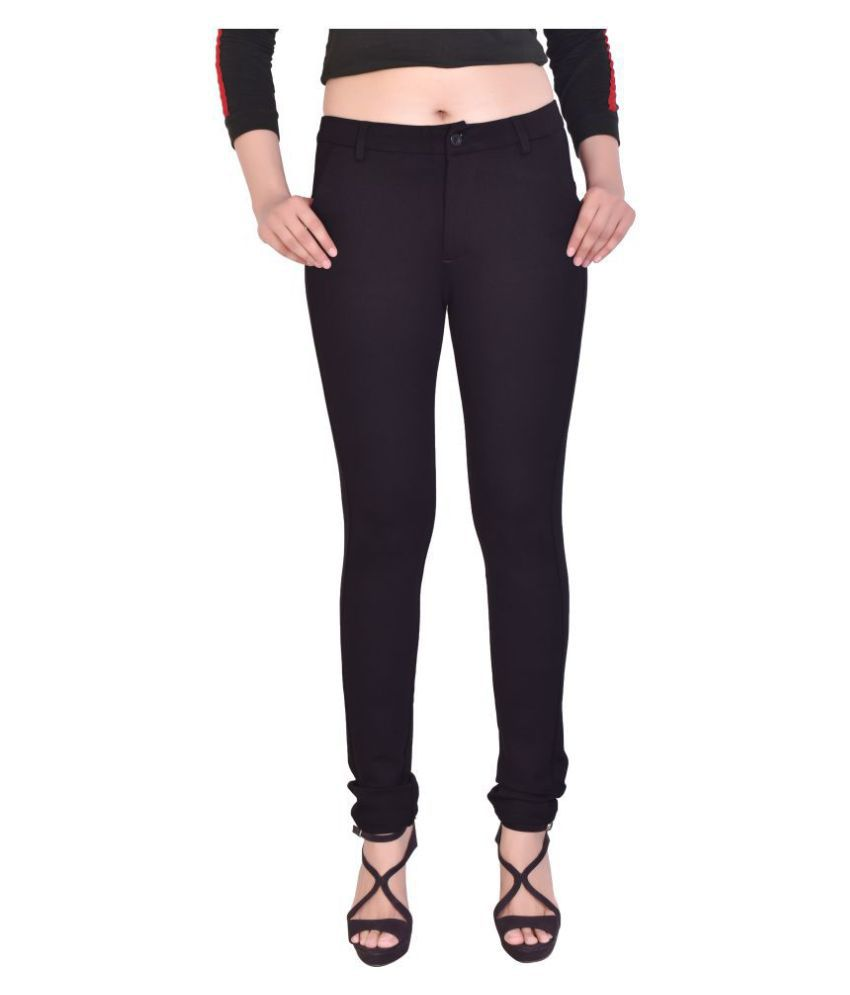 Shoppixo Cotton Lycra Jeans - Black