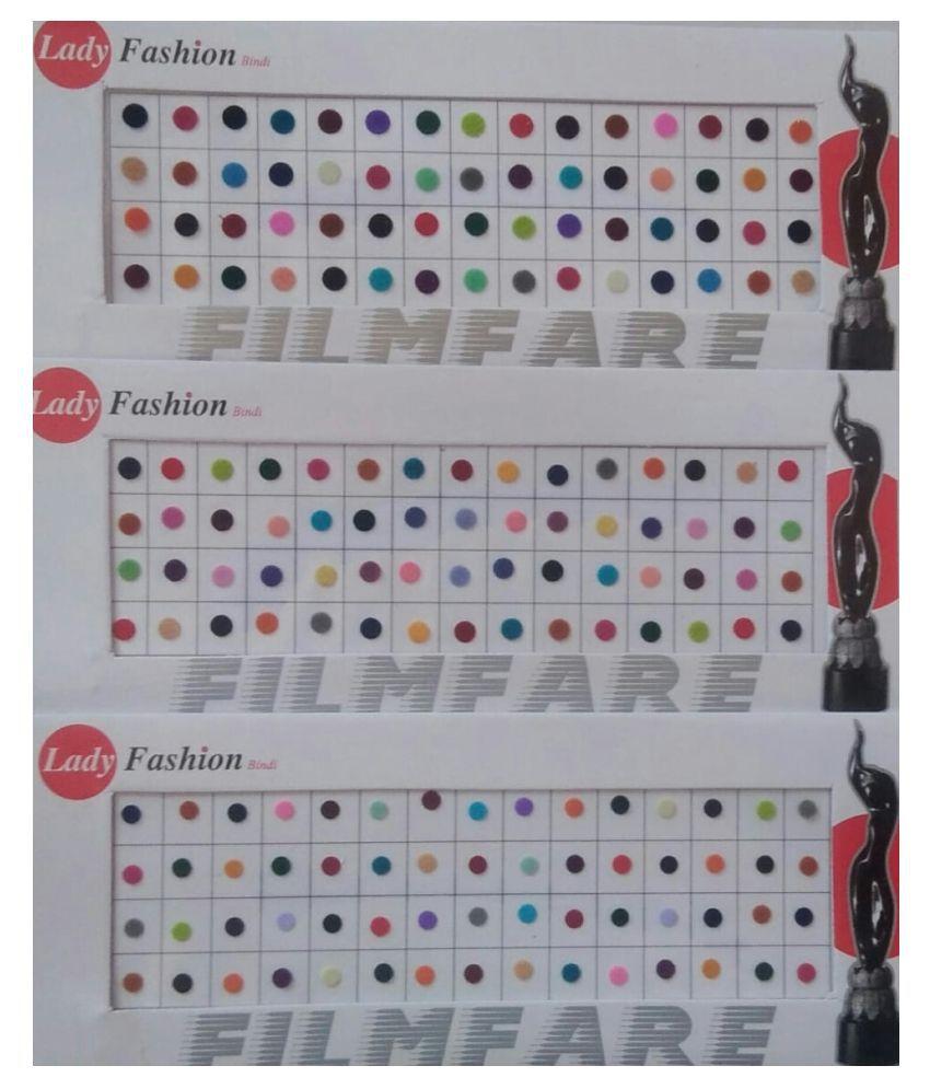 parveen enterprises Multicolour Bindi Stick on Pack of 3 15 g