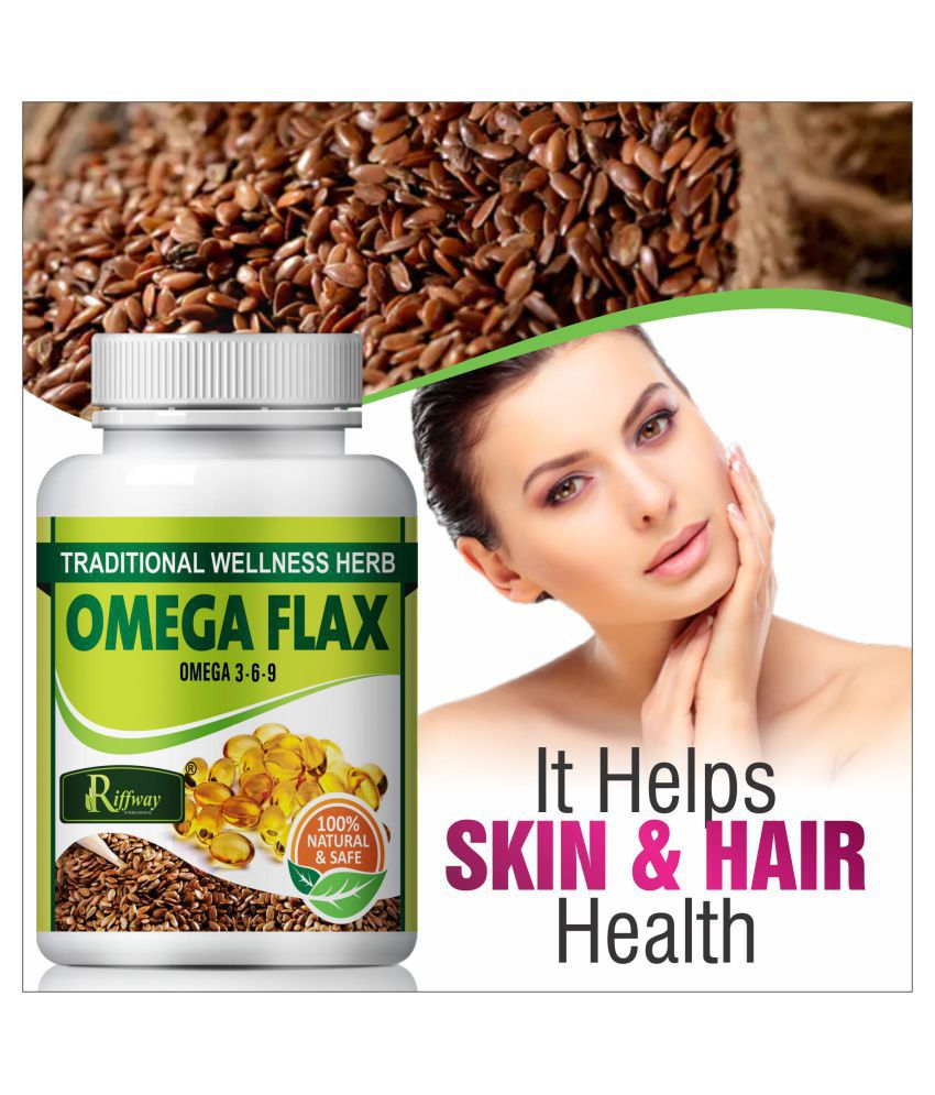 Inlazer Omega flax improve skin health  Capsule 60 no.s Pack Of 1