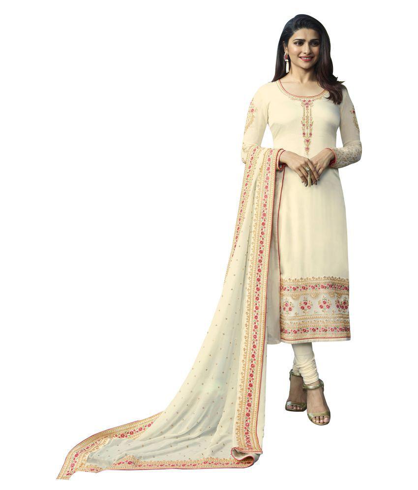 JOGMAYA FASHION White Satin Ethnic Gown