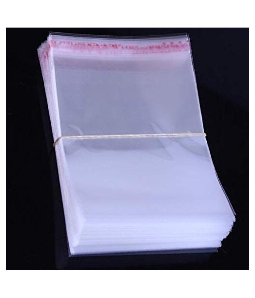 SJR Self Adhesive Multi-purpose Bag (Transparent, 13×21 Inch) Pack of 500 Pieces