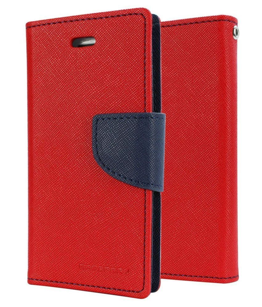 Micromax Bolt Q324 Flip Cover by peezer   Red