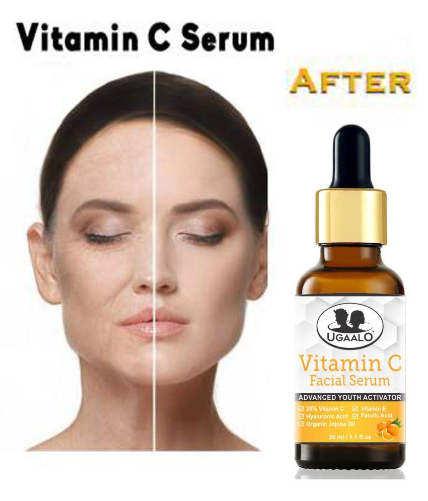 Ugaalo Vitamin C Serum - Skin Whitening & Anti Aging Face Serum SPF 20 30 mL