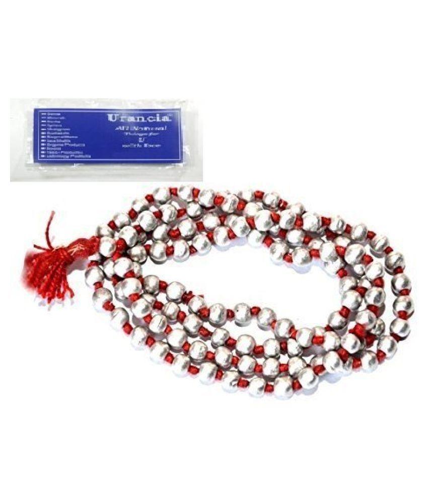 Urancia® 100% Pure Natural Knoted Parad Bead Mala, Mercury Bead Mala Hand Knotted Mala Necklace, Meditation Beads, Prayer Beads, Yoga Necklace