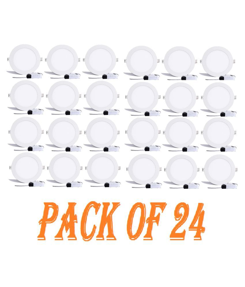 D'Mak Multi Traders 15W Round Ceiling Light 14.5 cms. - Pack of 24