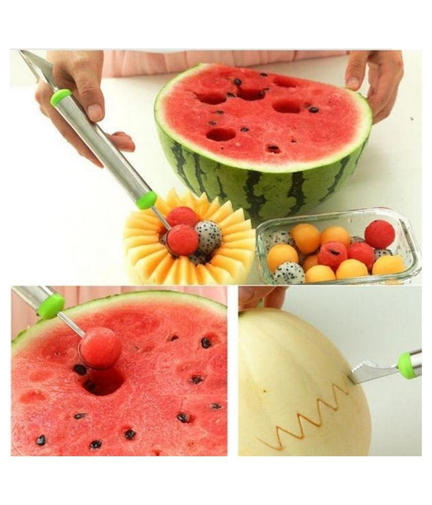 Fruit Platter Carving Knife Melon Baller Spoon Ice Cream Scoop Watermelon kitchen gadgets accessories Slicer Tools