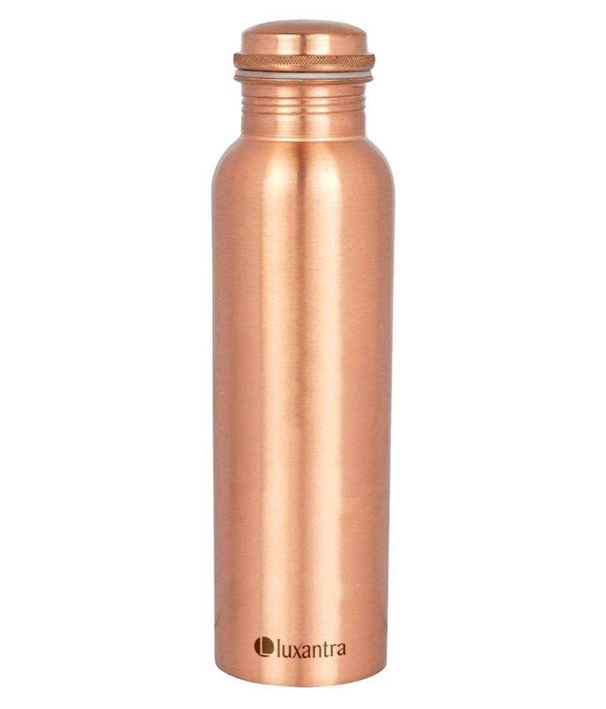 Luxantra LX Copper_1_Luxantra 1000ML Copper 1000 mL Copper Water Bottle set of 1