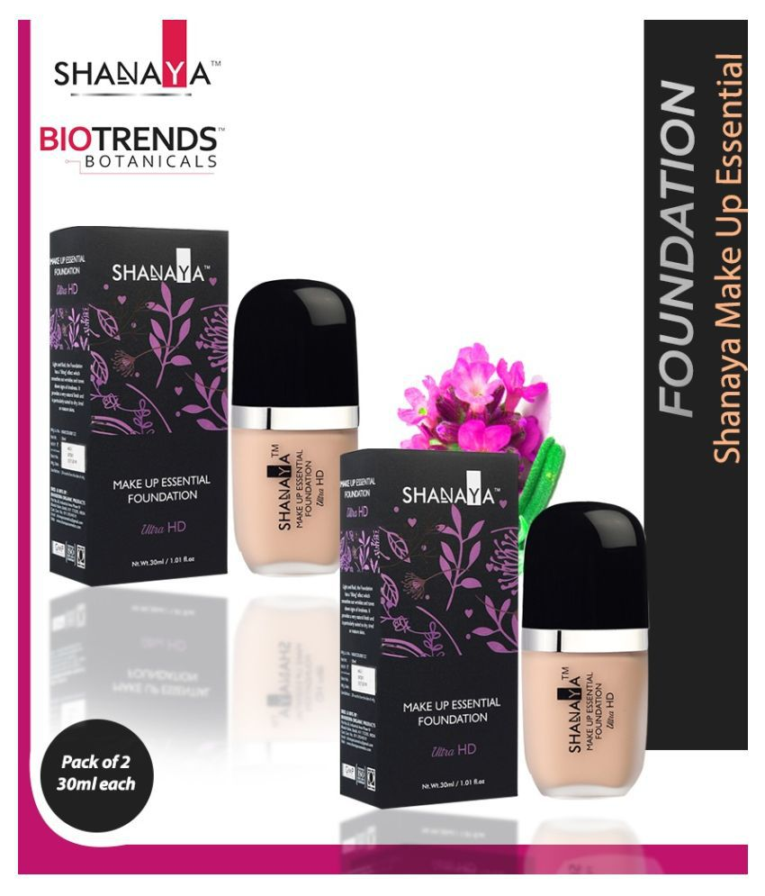 Shanaya Biotrends Botanicals Liquid Foundation Medium Pack of 2 60 g