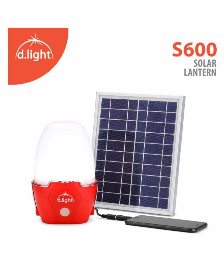 d.light d.light S600 solar light with mobile charging 5W Solar Table Lamp - Pack of 1