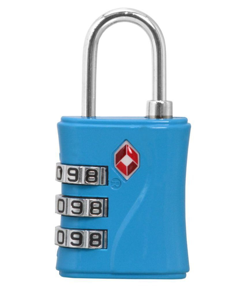 3 Digit Resettable TSA Travel Sentry Approved Own Password Travel Combination Security Padlock