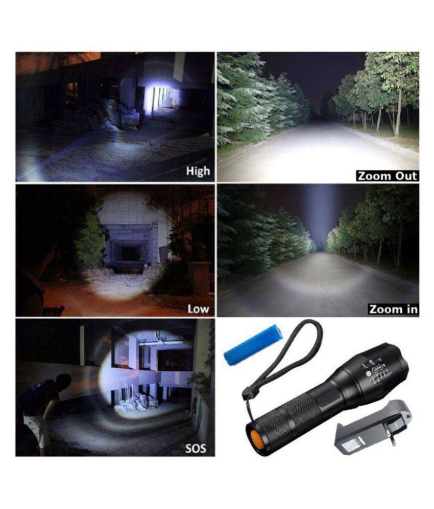 Jm 7W Flashlight Torch 400M Rechargeable - Pack of 1