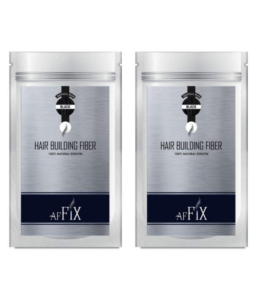 Affix Hair Fibers Black 80 g Pack of 2