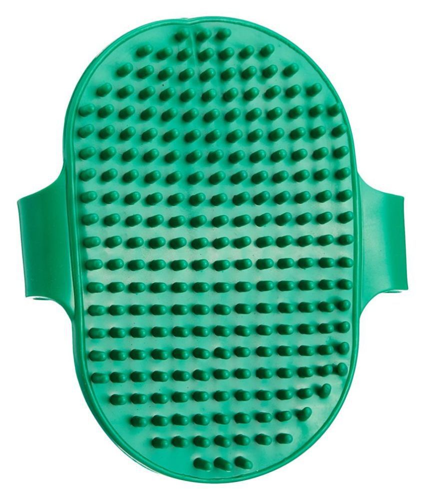 JSK Pet/Dog Rubber Hand Brush (2 Piece) Color may vary