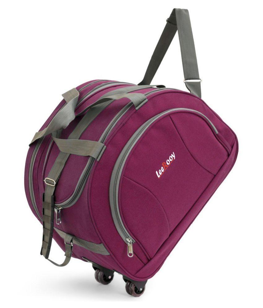 LeeRooy Pink Solid M Duffle Bag